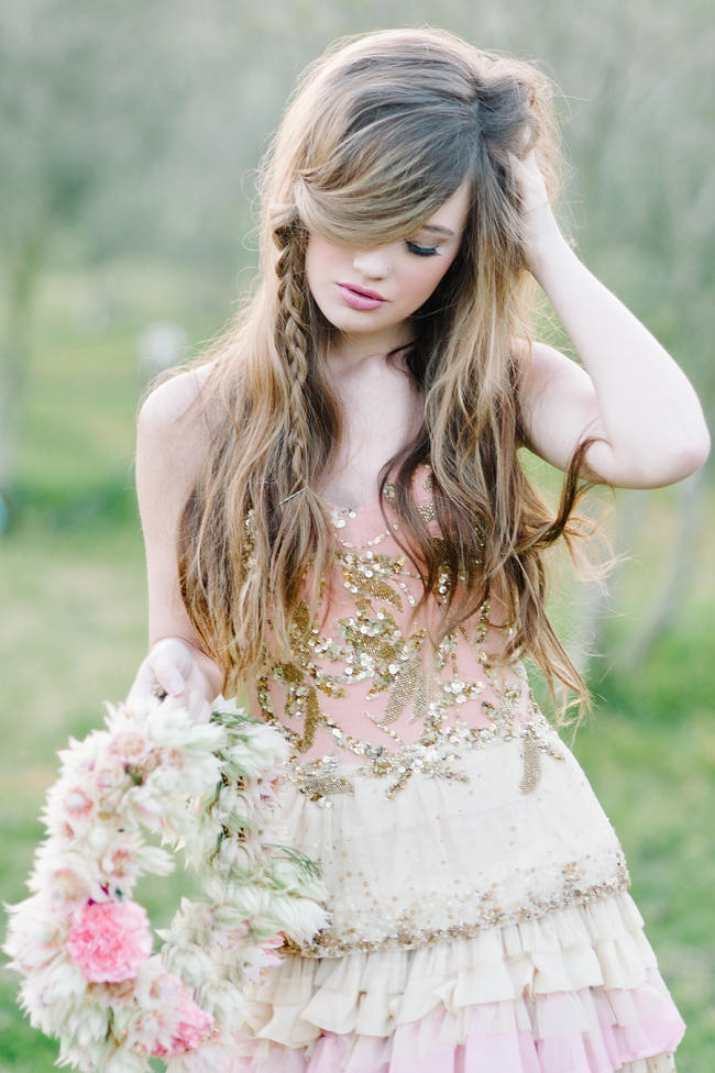 Rapunzel Inspired Long Hair Styles for Spring Weddings // Debbie Lourens Photography // Paramithi flowers // Fringe Hair and Make-up // Alana van Heerden Dresses