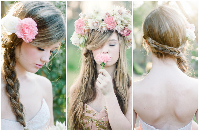 Rapunzel-Inspired Long Hairstyles for Spring Weddings {Debbie Lourens Photography}