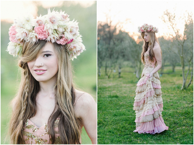 Rapunzel Inspired Long Hair Styles for Spring Weddings // Debbie Lourens Photography Paramithi flowers // Alana van Heerden Dresses