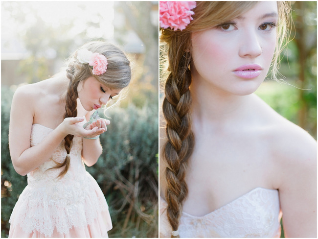 Rapunzel Inspired Long Hair Styles for Spring Weddings // Debbie Lourens Photography // Fringe Hair and Make-up