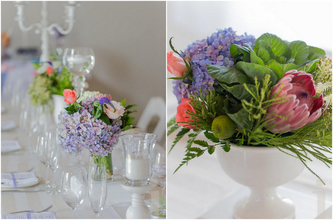 Pink and Purple Fresh, Modern Country Style Wedding Flowers // Jo Ann Stokes Photography
