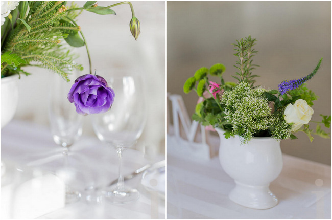 P:urple Fresh, Modern Country Style Wedding Flowers // Jo Ann Stokes Photography