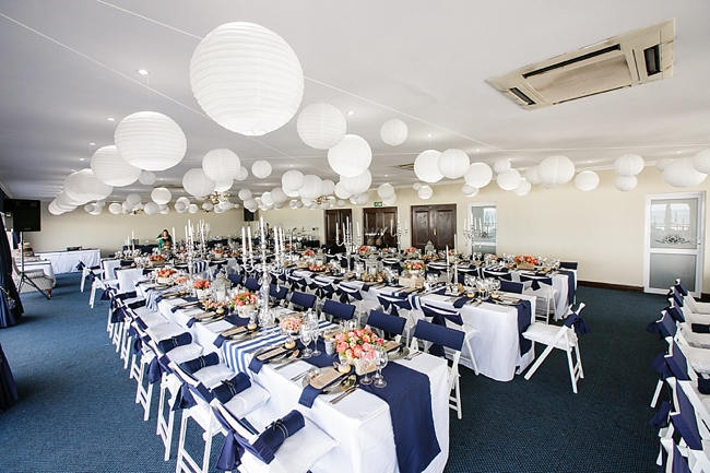 Nautical Beach Wedding In Coral And Navy