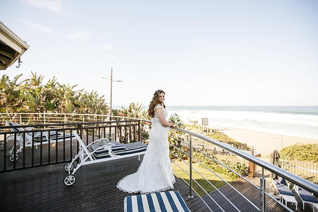 Lace Wedding Dress // Nautical Wedding in Coral and Navy  / Jack and Jane Photography