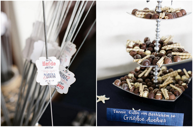 Sparklers // Nautical Beach Wedding in Coral and Navy Blue // Jack and Jane Photography