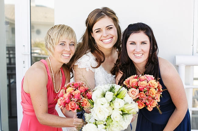Bridesmaids // Nautical Wedding in Coral and Navy  / Jack and Jane Photography