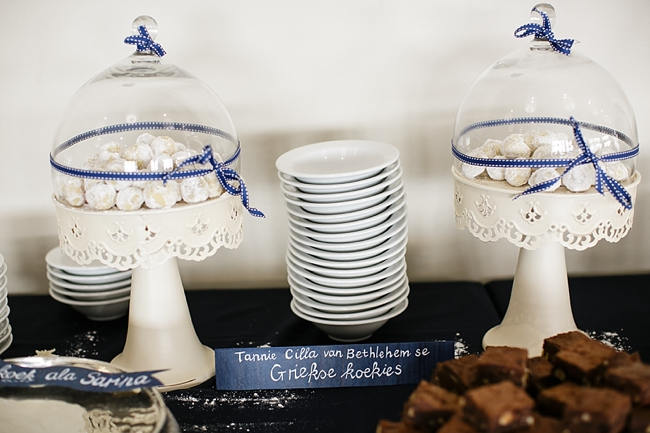 Dessert Table // Nautical Beach Wedding in Coral and Navy Blue // Jack and Jane Photography