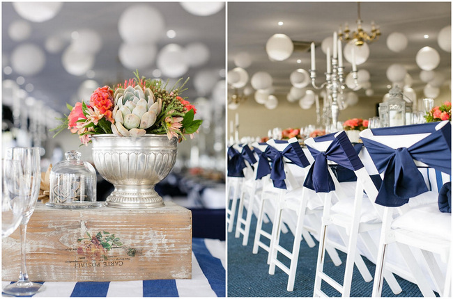 Navy And Coral Wedding.Nautical Beach Wedding In Coral And Navy