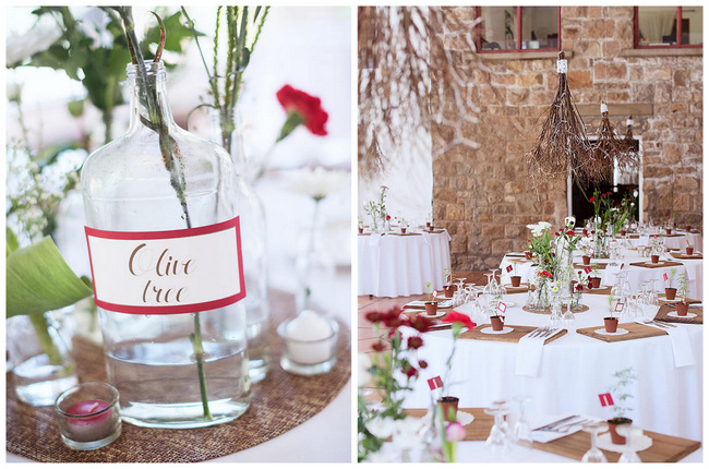 Wedding Reception // Table Setting // Red Brown White Autumn Wedding // Christopher Smith Photography - www.Cjphoto.co.za