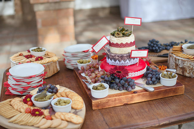 Cheese  Cake //  Red Brown White Autumn Wedding // Christopher Smith Photography - www.Cjphoto.co.za