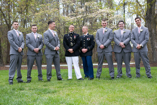 Groomsmen //  Beautiful Rustic Elegance Wedding in Blush Cream Gold // Carly Fuller Photography // Click for more details on www.ConfettiDaydreams.com