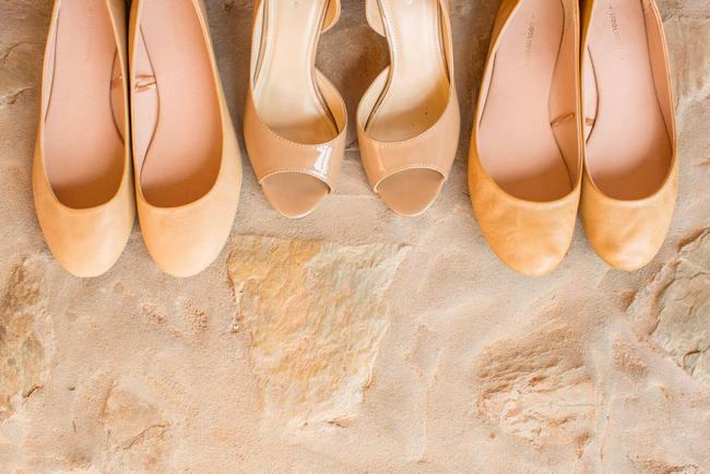 wedding shoes // Rustic South African Farm Wedding in Peach // Marli Koen Photography