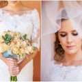 Succulent Bouquet // // Rustic South African Farm Wedding in Peach // Marli Koen Photography