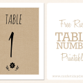 Free Cute Rustic DIY Table Numbers Free Printable 2