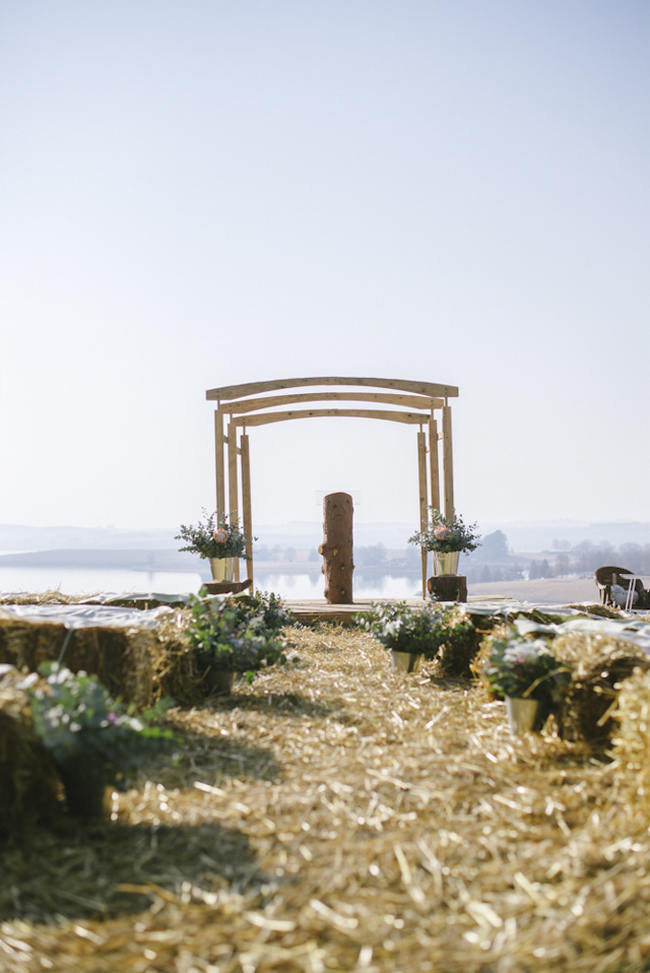 Wooden Arch  Canopy //  Relaxed, Picnic Style Farm Wedding // Micaela De Freitas Photography