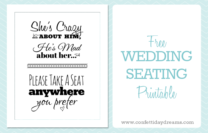 photograph regarding Wedding Sign Printable titled Select A Seat marriage Indicator Cost-free Printable
