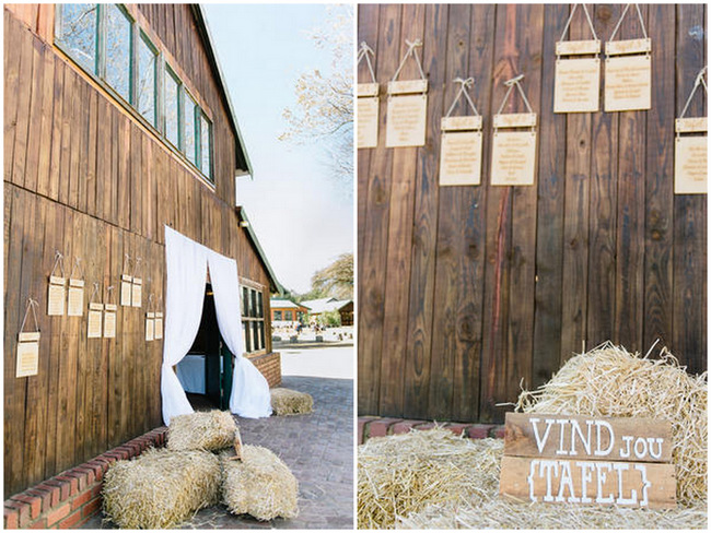 Seating Chart // Vintage Chic Barn Wedding Reception // Louise Vorster Photography