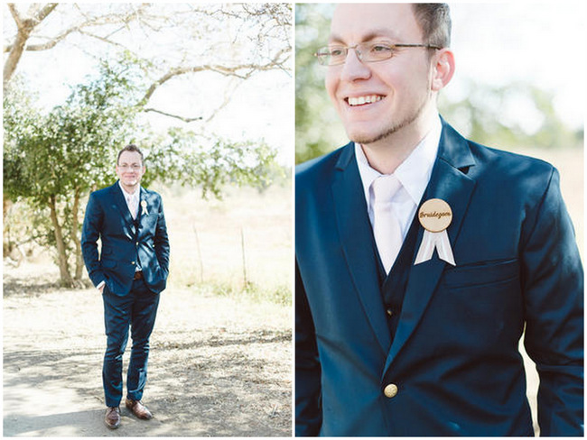 Navy Blue Groom Suit // Vintage Chic Barn Wedding // Louise Vorster Photography