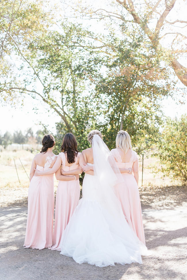 Blush Bridesmaids // Vintage Chic Barn Wedding // Louise Vorster Photography
