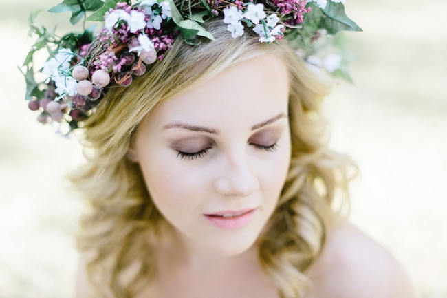 Purple Lavender Crown //The MOST gorgeous whimsical Boho Forest Engagement ever by Louise Vorster photography