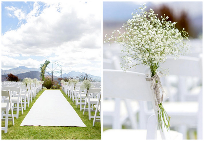 Floral Wedding Arch // Franschhoek Wedding // Photography by Claire Nicola