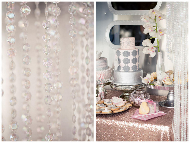 Blush and Sparkle: Gorgeous Glitter Wedding Inspiration {Tasha Seccombe Photography}