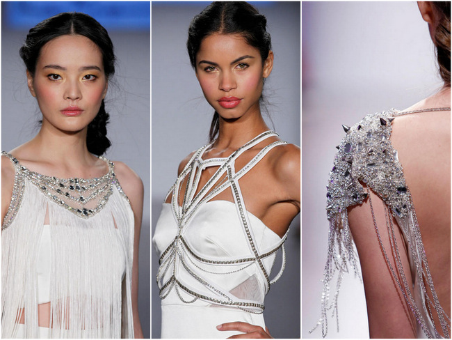 Glam Rock Runway Revival: Studs, Spikes & Beaded Body Harnesses {Hayley Paige Spring 2015}