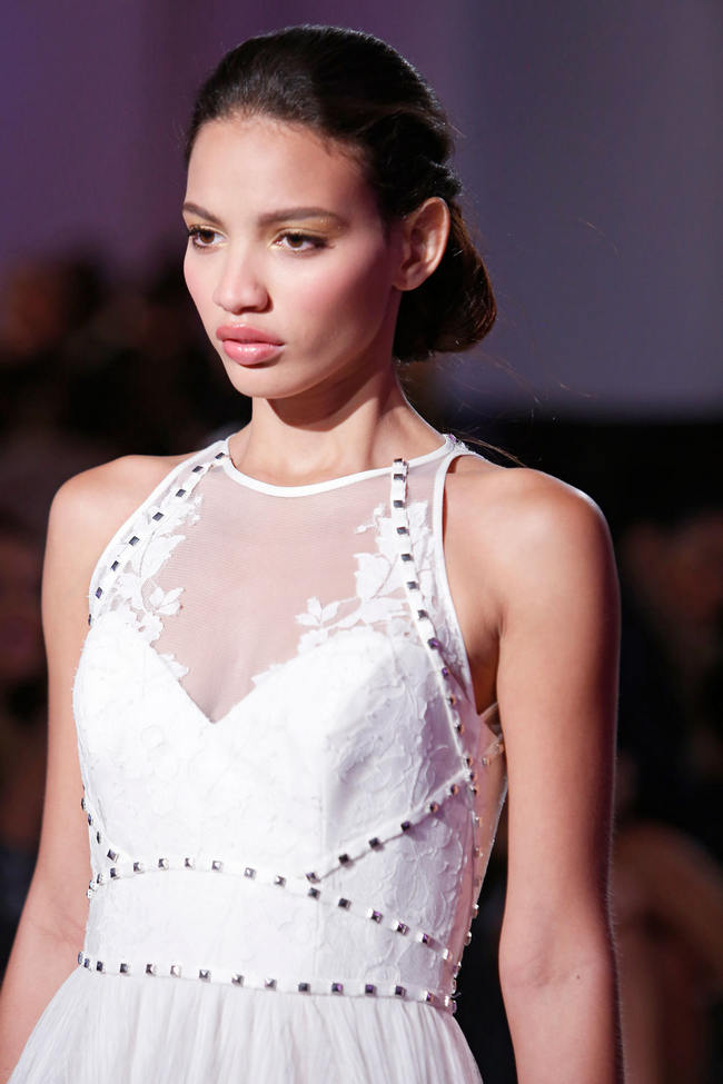 images Glam Rock Runway Revival: Studs, Spikes Beaded Body Harnesses from Hayley Paige Spring 2015