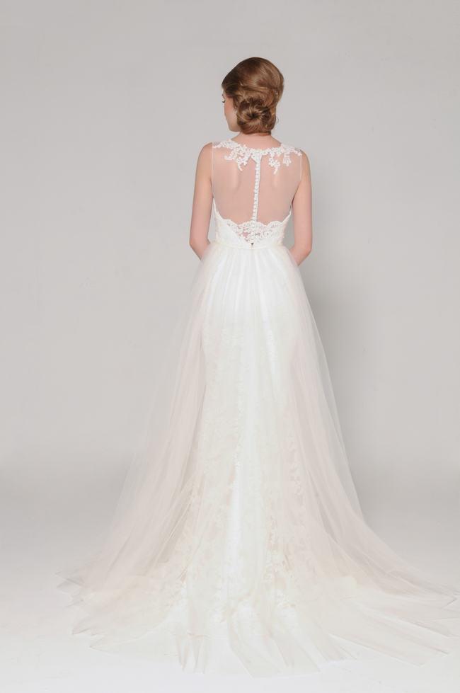Lace Back Wedding Dress (13)