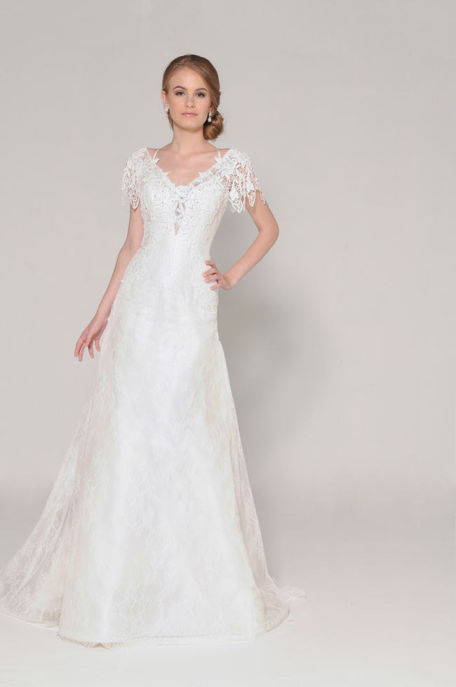Lace Back Wedding Dress (15)