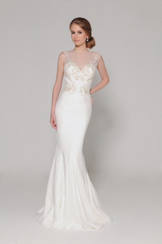 Lace Back Wedding Dress (9)