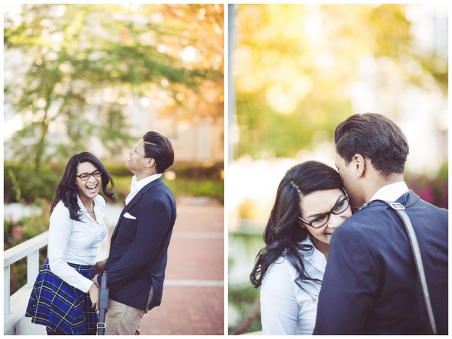 Library Engagement Shoot // Lilac Photography