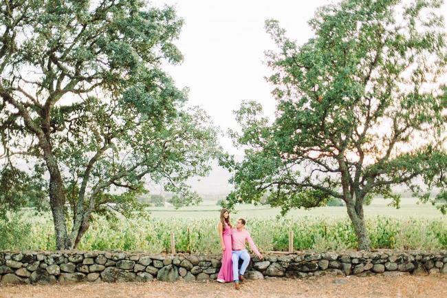 Summer Napa Valley Vineyard Couple Shoot // YourDreamPhoto