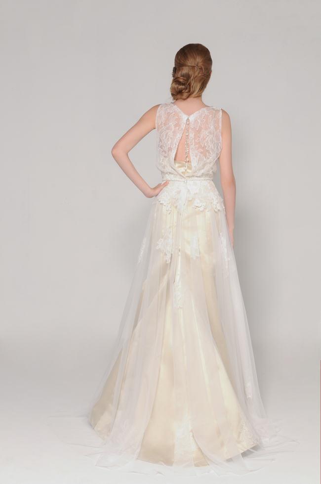 Open Lace Back Wedding Dress