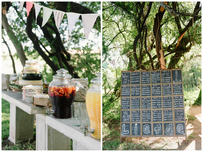 Chalkboard Seating plan // Mint Coral South African Wedding // Louise Vorster Photography