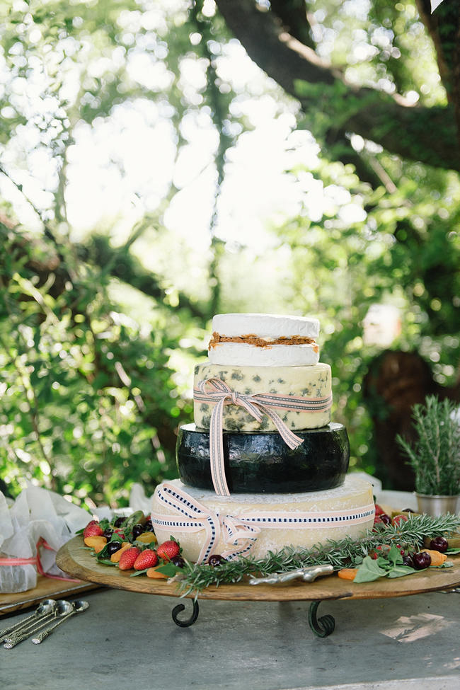 Rustic Cake made from Cheese // //   Mint Coral South African Wedding // Louise Vorster Photography