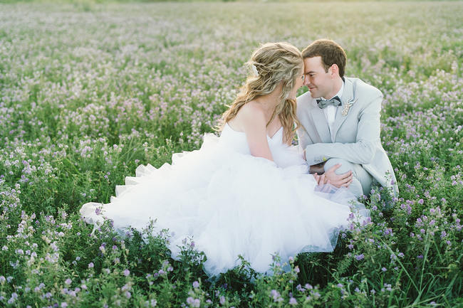 Romantic Couple Shoot in field of flowers //   Mint Coral South African Wedding // Louise Vorster Photography
