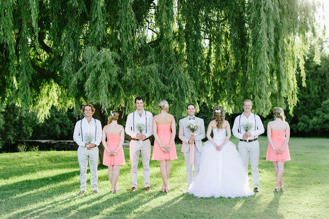 Bridal Party Photo Ideas // Mint Coral South African Wedding // Louise Vorster Photography