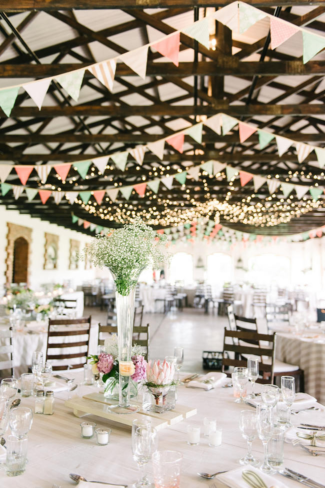 Barn Bunting //  Mint Coral South African Wedding // Louise Vorster Photography