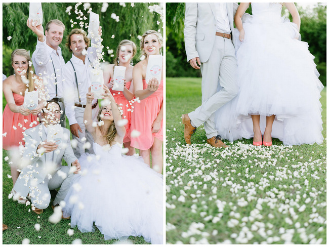 Popcorn!! Bridal Party Photo Ideas // Mint Coral South African Wedding // Louise Vorster Photography