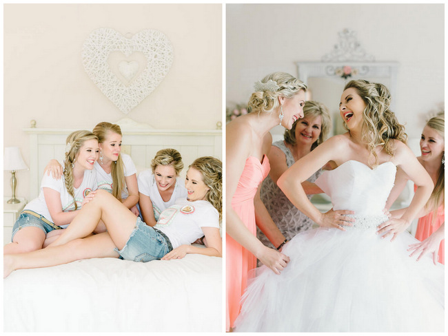 Mint and Coral South African Wedding {Louise Vorster Photography}