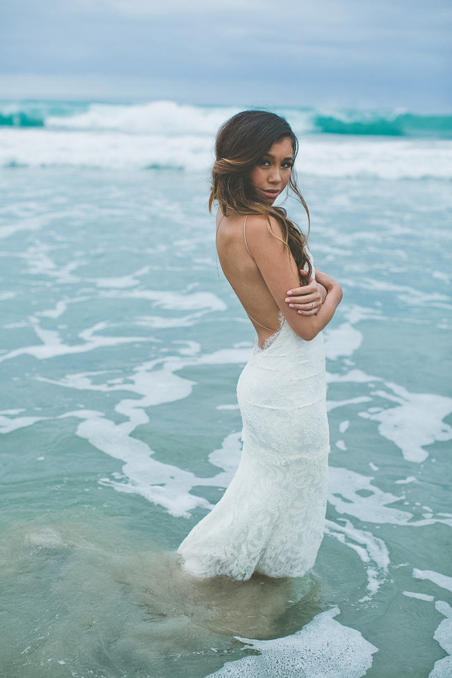 STUNNING Backless Beach Wedding Dress by Katie May