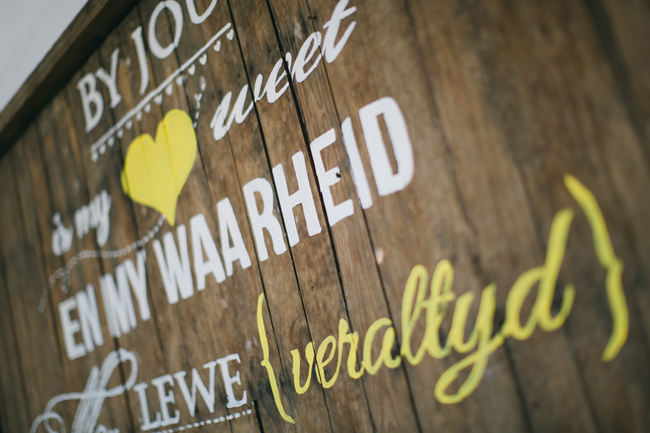 Beautiful Gray and Yellow Rustic Winter Wedding Reception Decor / Jenni Elizabeth Photography