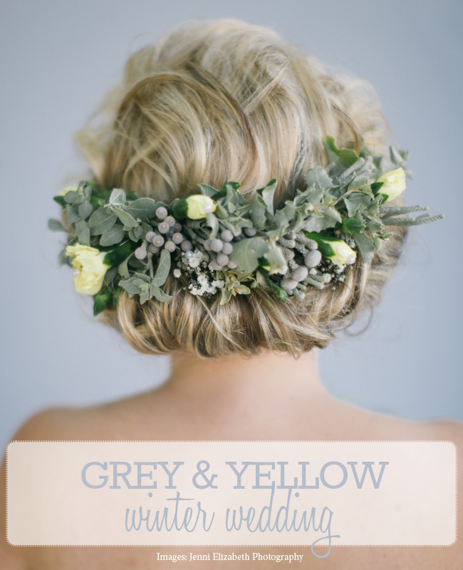 Gray Yellow Winter Wedding (4)