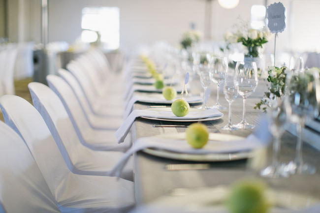 Tablescape //  Beautiful Gray and Yellow Rustic Winter Wedding Reception Decor / Jenni Elizabeth Photography