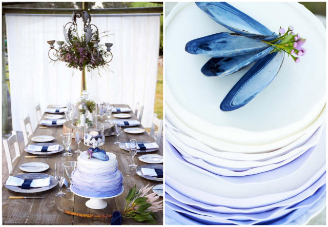 Navy Blue Beach Wedding {Kusjka du Plessis Photography}