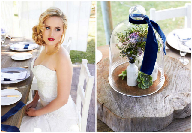 Navy Blue Beach Wedding