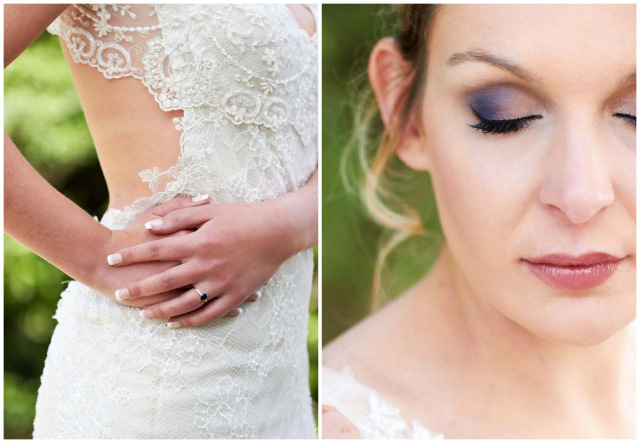 Seashell inspired eye make up // Navy Blue Beach Wedding