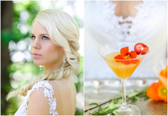 Romantic Garden Wedding in Peach and Grey // Nikki Meyer Photography
