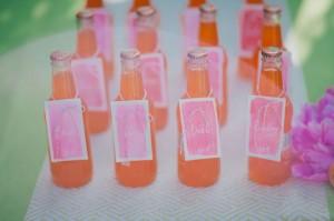 Orange Hot Pink Watercolor Wedding Ideas (22)  